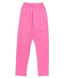 Simply Solid Color Full Length Leggings - Pink
