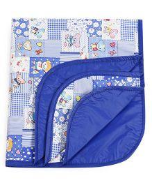 1st Step Baby Mat Teddy Prints - Royal Blue