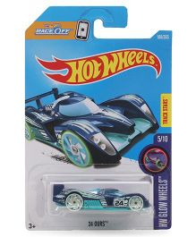 Hot Wheels Glow 24 Ours Toy Car - Blue