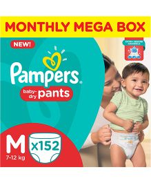 Pampers Pant Style Diapers Monthly Pack Medium - 152 Pieces