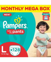 Pampers Pant Style Diapers Monthly Pack Large - 128 Pieces