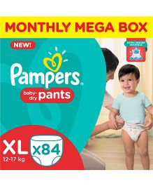 Pampers Pant Style Diapers Monthly Pack Extra Large - 84 Pieces