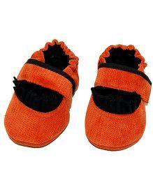 SnugOns Mary Jane Style Booties - Orange