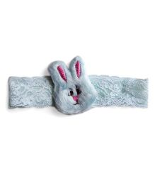 Milonee Headband With Furry Rabbit Applique - Sky Blue