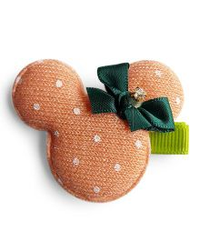 Milonee Cute Clip With Dot Print - Peach