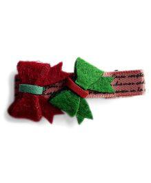 Milonee Bow Applique Clip - Brown