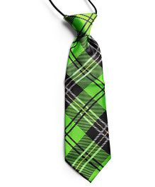 Milonee Plaid Printed Neck Tie - Green & Black