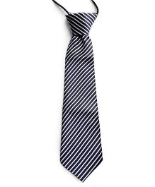 Milonee Striped Neck Tie - Blue & White