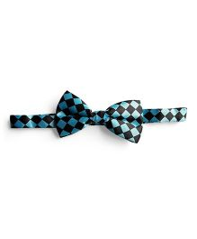 Milonee Checked Bow Tie - Indigo Blue
