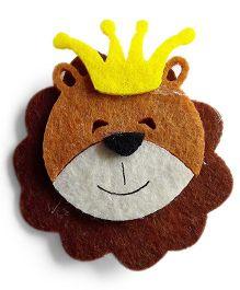 Milonee Lion Face Sliding Clip - Brown