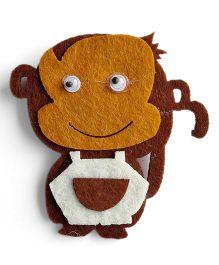 Milonee Monkey Brooch Pin - Brown
