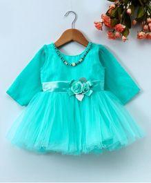 Enfance Party Wear Dress For Girls - Blue