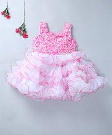 Enfance Frilled Party Wear Dress - Pink