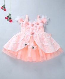Enfance Elegant Party Wear Dress - Peach