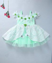 Enfance Elegant Party Wear Dress - Green
