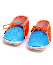 Soft Tots Shining Booties - Blue & Orange