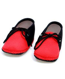 Soft Tots Shining Booties - Red & Black
