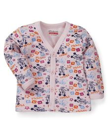 Bodycare Full Sleeves Vest Mickey Mouse Print - Pink