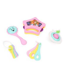 Ratnas Little Doll Rattle Set Pack Of 5 - Pink Blue Yellow