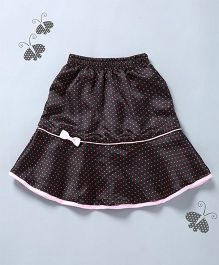 Many Frocks & Polka Dot Print Skirt - Black