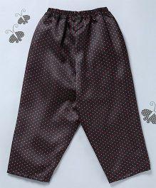 Many Frocks & Polka Dot Print Pajama - Black