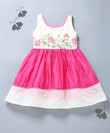 Many Frocks & Hand Emroidered Dress - Pink