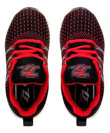 77 Seventy Seven Trendy Kids Sports Shoes - Black & Red