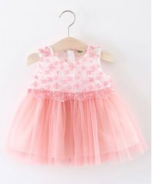 Pre Order - Awabox Embroidered Flower Dress - Pink