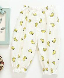 Pre Order - Awabox Banana Printed Lounge Pants - Yellow & White