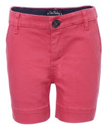 One Friday Solid Design Skinny Shorts - Coral