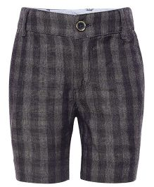 One Friday Checkered Formal Shorts - Grey
