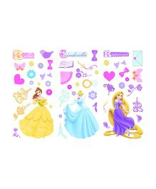 Decofun Disney Princess Wall Stickers Small - Multicolor