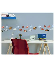 Decofun Cars Foam Elements Wall Stickers Pack Of 24 - Multicolor