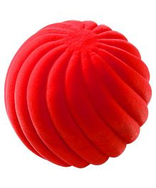 Rubbabu Natural Rubber Foam Swirl Ball - Red