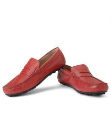 Careeno Carmelo Classic Loafers - Red