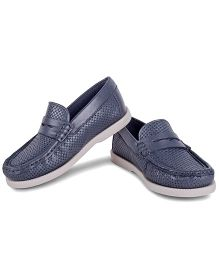Careeno Loafers With Bow - Bluish Grey