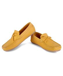 Careeno Slip On Classic Loafers - Yellow