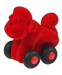 Rubbabu Pull Along  Monkey - Red
