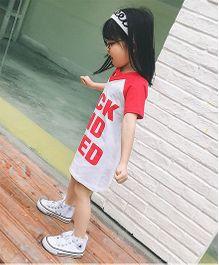Pre Order - Awabox T-Shirt Style Dress - Red