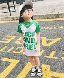 Pre Order - Awabox T-Shirt Style Dress - Green
