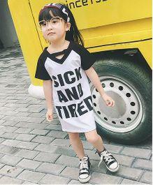 Pre Order - Awabox T-Shirt Style Dress - Black