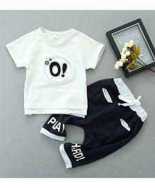 Pre Order - Awabox O Printed Tee & Pants - White