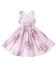 Epice Pretty In Pink Flower Dress - Pink