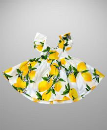 2 Footya Citrus Breeze Dress - White & Yellow