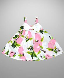 2 Footya Bow Applique Makes Me Glow Dress - White