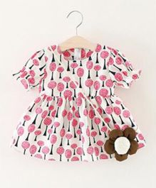Epice Shade Under Tree Dress - White & Pink