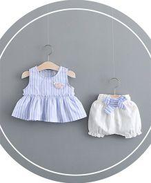 Pre Order - Awabox Striped Top & Shorts - Blue