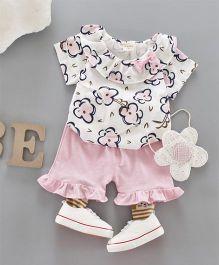 Pre Order - Awabox Floral Top & Shorts - Pink