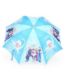 Disney LED Frozen Printed Umbrella - Aqua blue