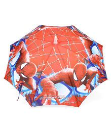 Marvel Spider Man Print LED Umbrella  - Red